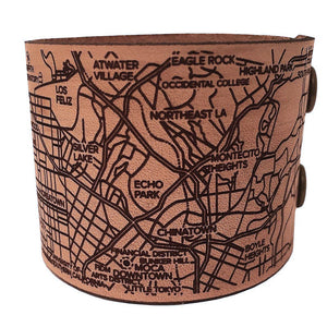Los Angeles Map Bracelets - handmade leather - Designhype - City Inspired Accessories