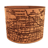 Design hype's handmade leather Los Angeles City map bracelets are the perfect gift for women who love LA.