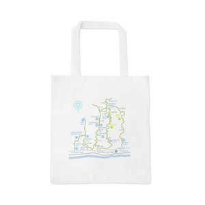 Columbia River Gorge / Multnomah Falls Hiking Map Canvas Tote Bag - Designhype - City Inspired Accessories