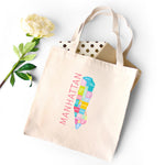 Manhattan Neighborhood Map - Canvas Tote - Designhype - City Inspired Accessories