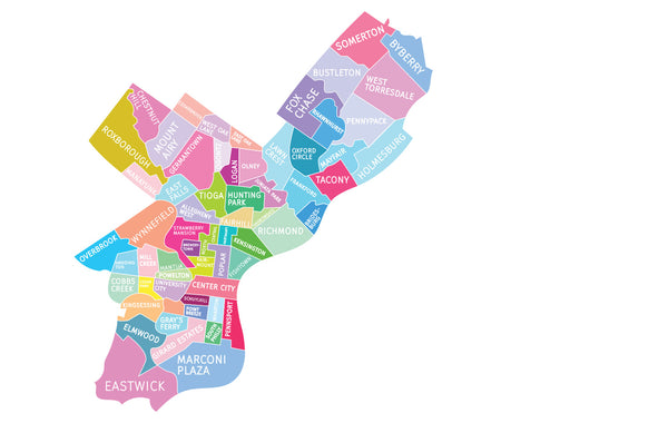 Philly Neighborhood Map by Designhype
