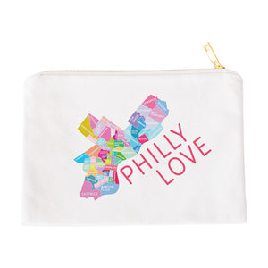 Philadelphia Neighborhood Map Makeup Bag - Designhype - City Inspired Accessories
