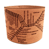 Design hype's handmade leather San Francisco map bracelets are the perfect gift for SF lovers!
