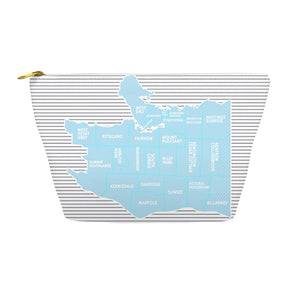 Vancouver, BC Neighborhood Map - Makeup Bag - Designhype - City Inspired Accessories
