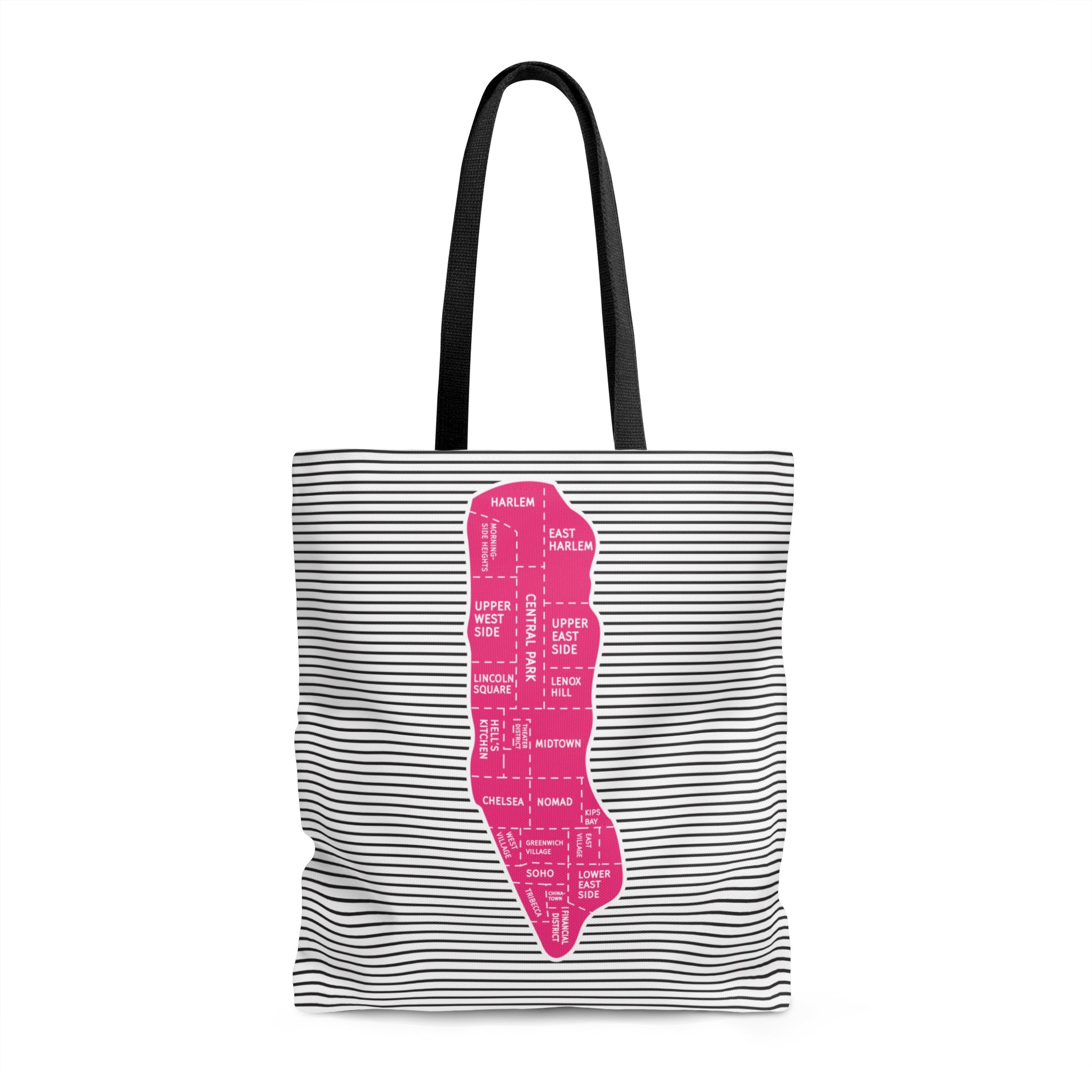 Manhattan Neighborhood Map Tote Bags - Designhype - City Inspired Accessories