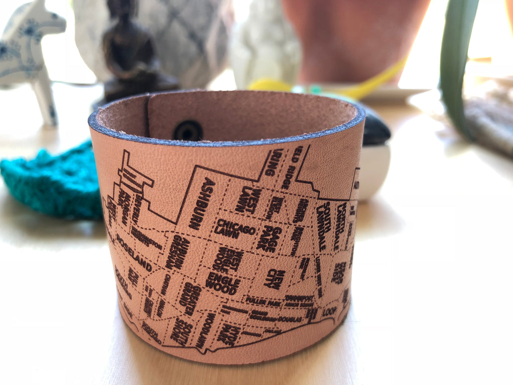Chicago Leather City Cuff - Designhype - City Inspired Accessories