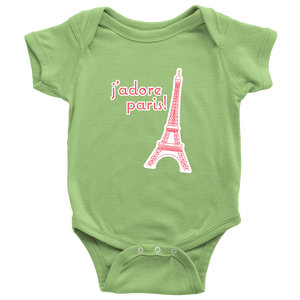 I adore Paris - Eiffel Tower Onesie *Wholesale* - Designhype - City Inspired Accessories