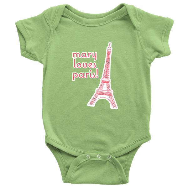 Personalize your Eiffel Tower Onesie