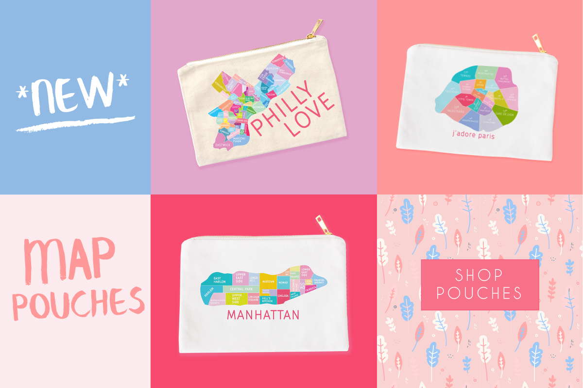 New Neighborhood map pouches by Designhype