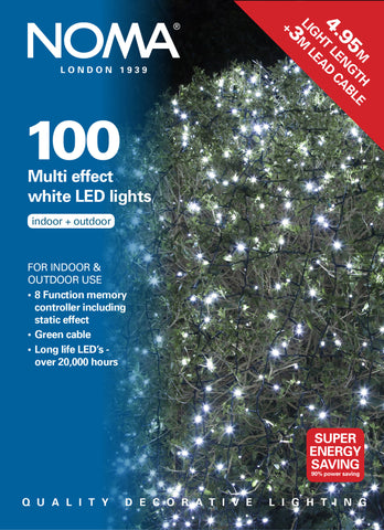 100 Multi Function LEDs - White