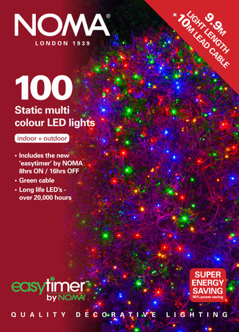 100 Static LEDs - Multi Colour with Easytimer