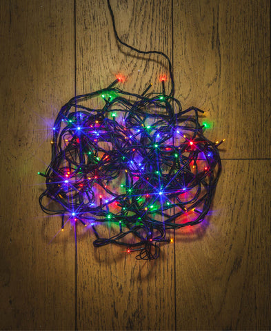 240 Multifunction Multi Colour LED Lights / Green Cable