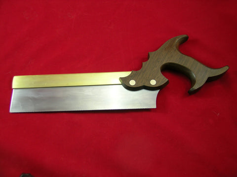 Triple Cove Dovetail saw with Heavy Folded Brass Back and Peruvian Walnut Handle