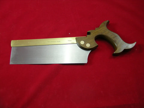 Dovetail Saw with folded brass back with Argentine Lignum Vitae handle