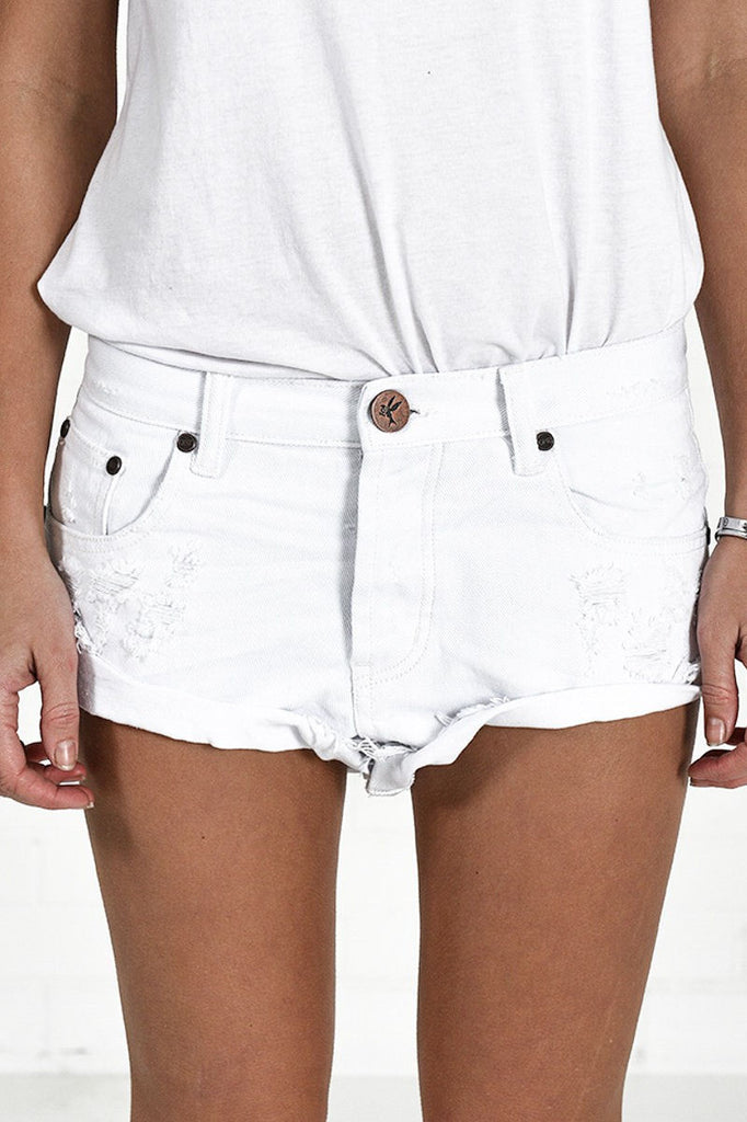 Bandits shorts in white beauty