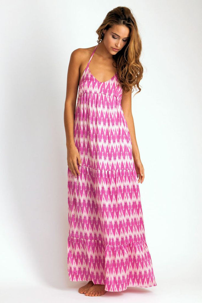 Coolie Maxi Dress in Hot Pink