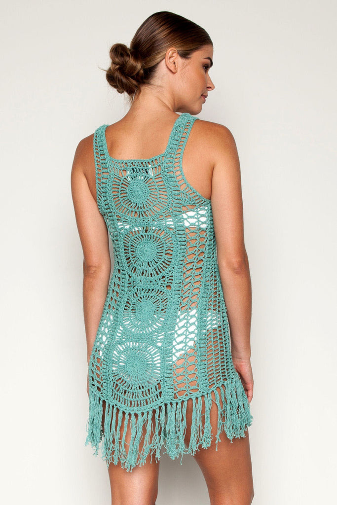 Emma short dress in turquoise