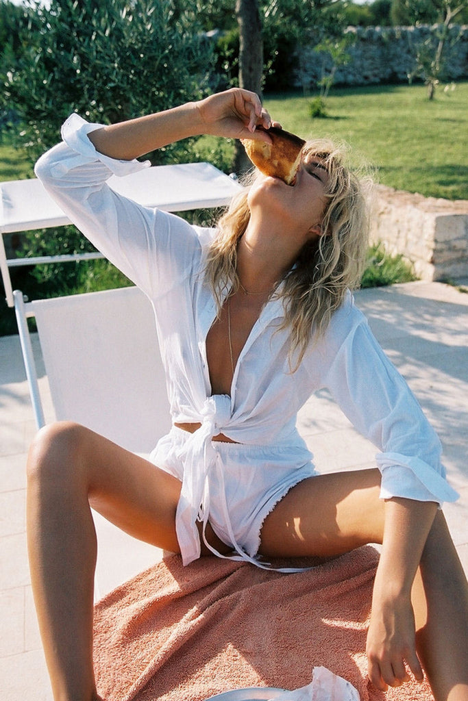 Hosk shirt in plain white