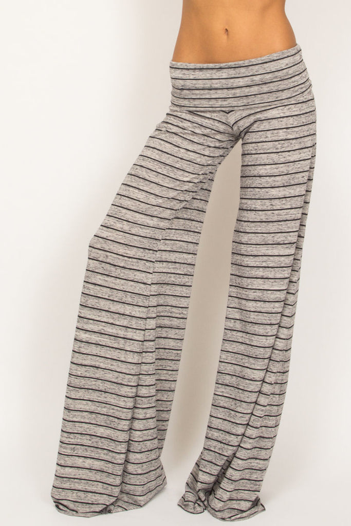 Moby stripe Carol pants in storm/black stripe