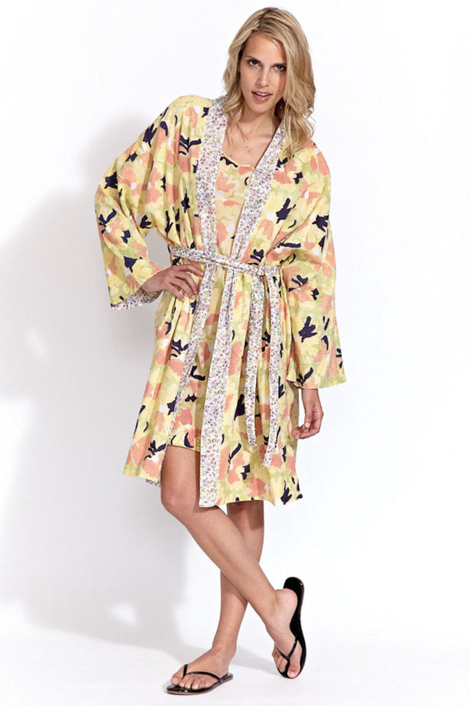 Robe in Yellow Flower