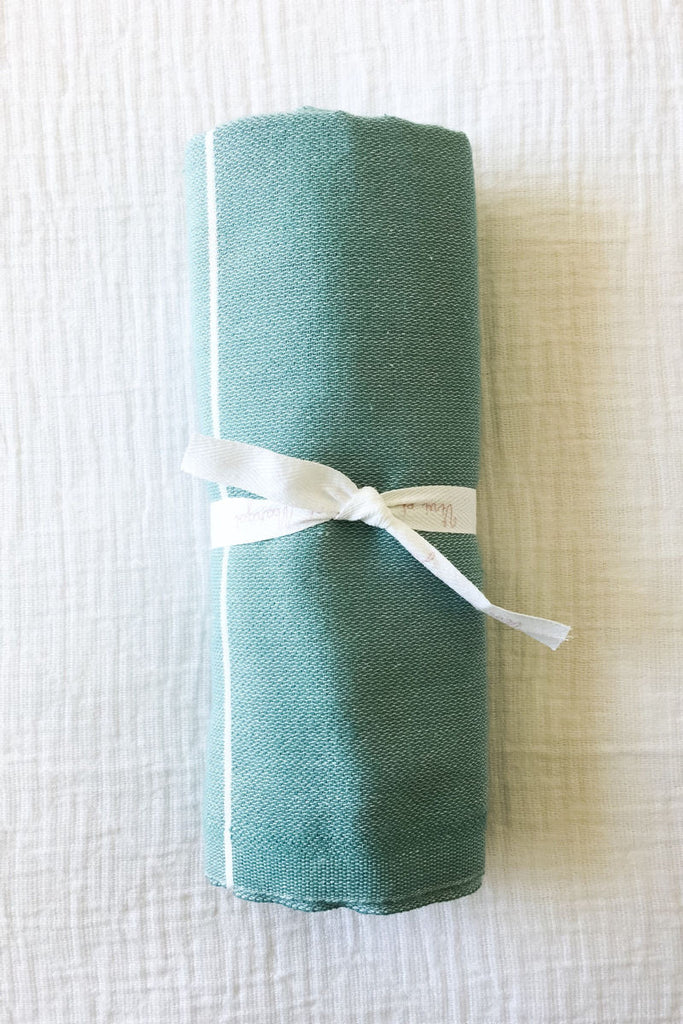 Turkish fouta towel in mint