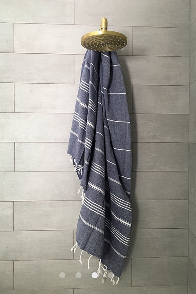Turkish fouta towel in navy