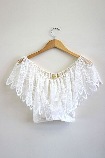 Wilderness fiesta crop top in wilderness white