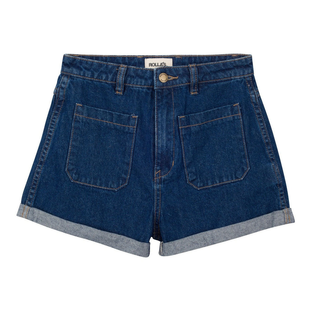 High Waist Sailor short in porter blue