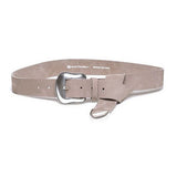 Taos nubuck belt in light taupe/silver