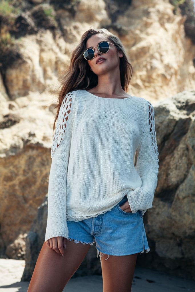 Wren sweater in ivory