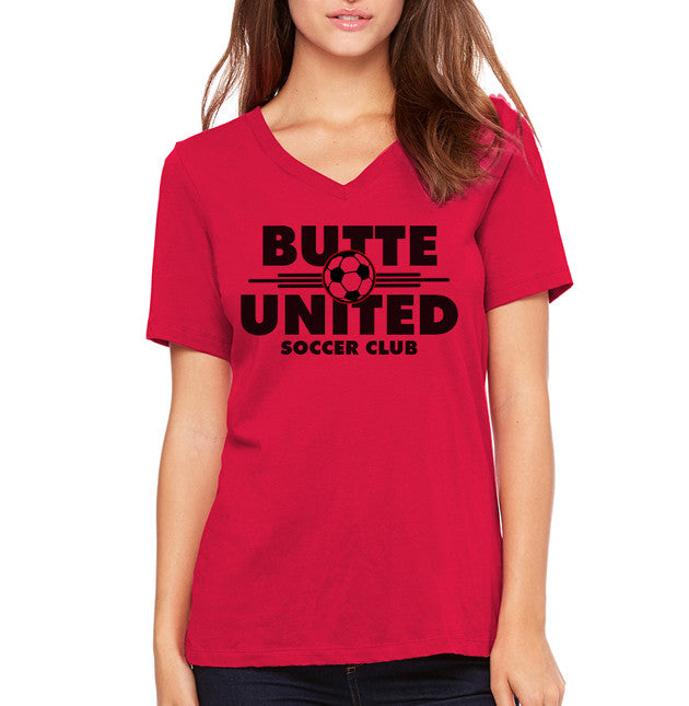 Ladies Butte United Supporters V-Neck