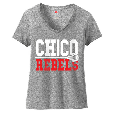Ladies Chico Rebels 2 Tone V Neck