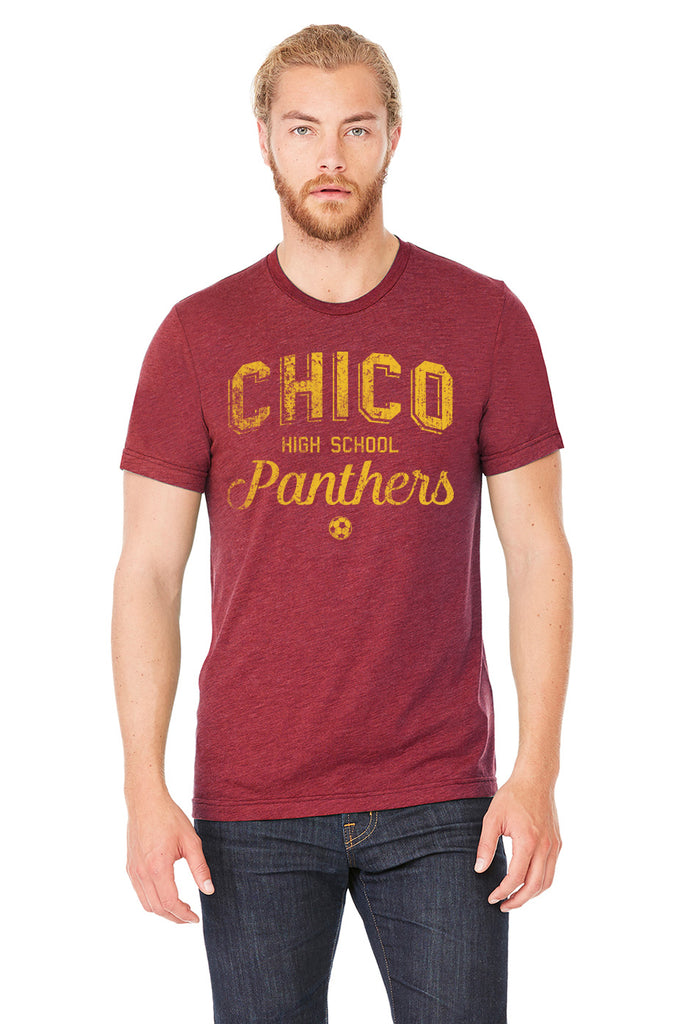 CHICO HIGH SCHOOL SOCCER TEE - CARDINAL HEATHER