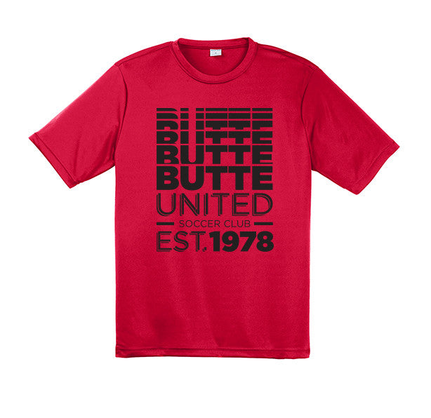 Sport Tek Butte United Faded Glory - Red