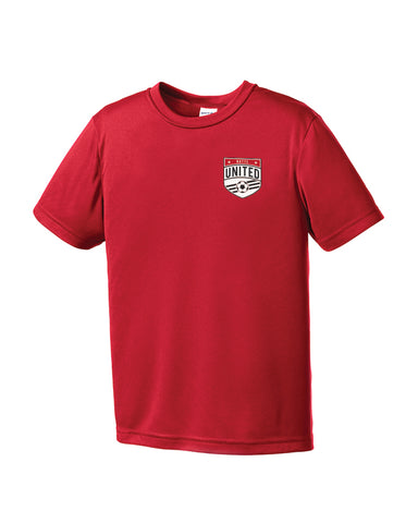 Youth Sport Tek Butte United Crest Red