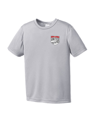 Youth Sport Tek Butte United Crest Silver