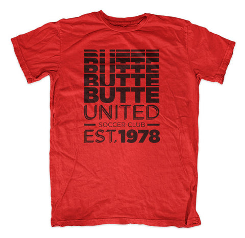 Butte United Faded Glory - Red