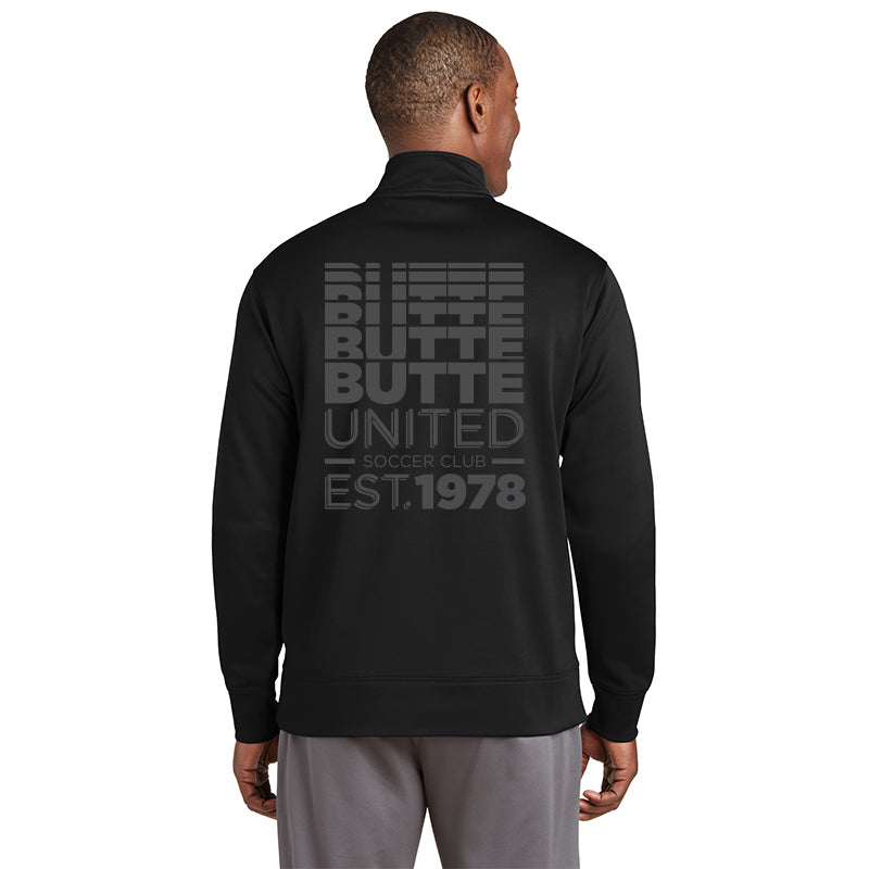 Adult Sport Tek Full Zip Faded Glory - Black