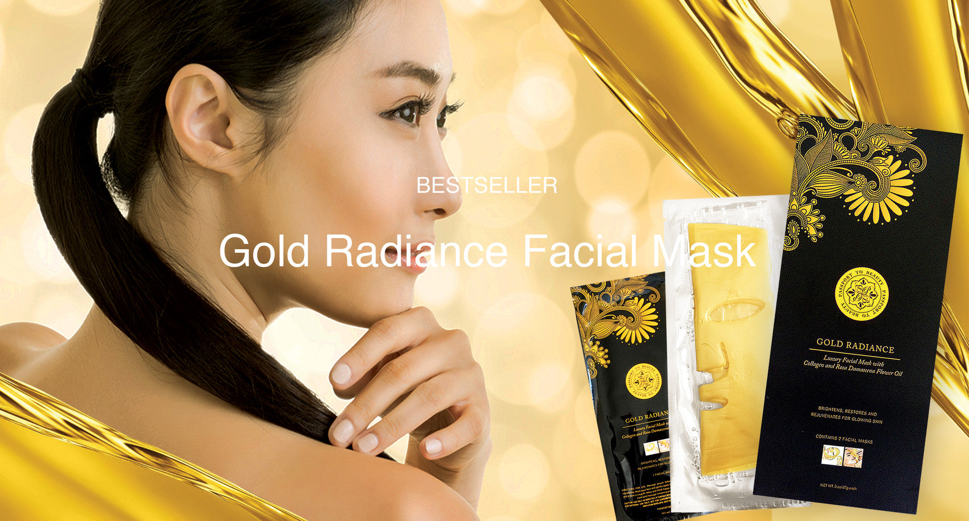 Gold Radiance Facial Mask