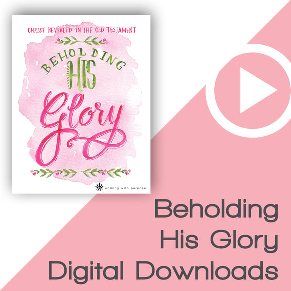 Beholding His Glory Bible Study Digital Downloads