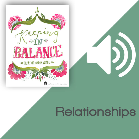Keeping In Balance Audio Download Talk 2, Lesson 5