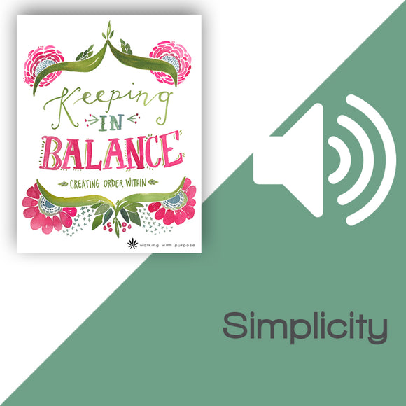 Keeping In Balance Audio Download Talk 4, Lesson 13