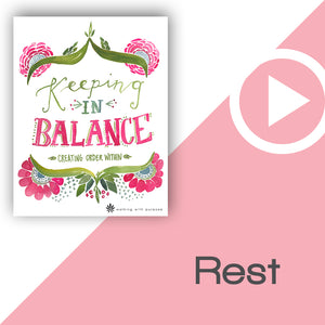 Keeping In Balance Digital Download Video 3