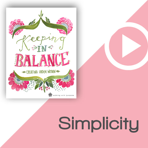 Keeping In Balance Video Download Talk 4, Lesson 13