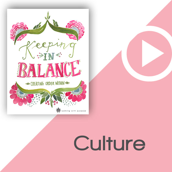 Keeping In Balance Digital Download Video 6