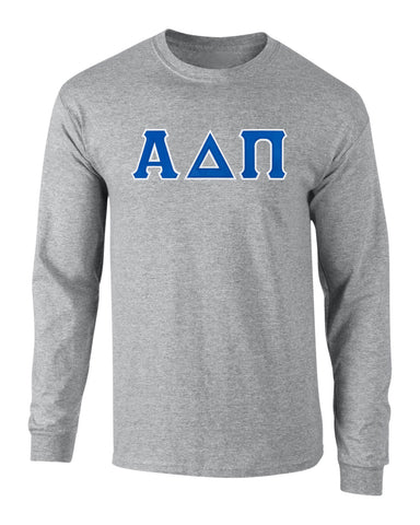 Alpha Delta Pi Twill Letter Long Sleeve Tee
