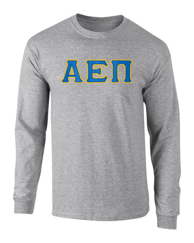 Alpha Epsilon Pi Twill Letter Long Sleeve Tee