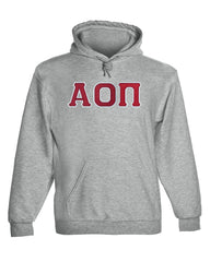 Alpha Omicron Pi Twill Letter Hoody