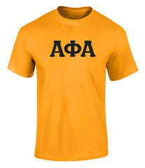 Alpha Phi Alpha Twill Letter Tee