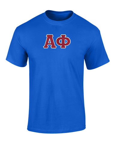 Alpha Phi Twill Letter Tee